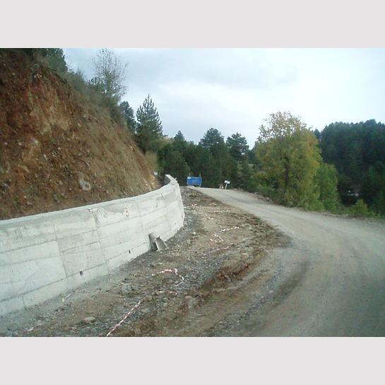 Τοίχος αντιστήριξης στην επ. οδό Αρματα - Δίστρατο